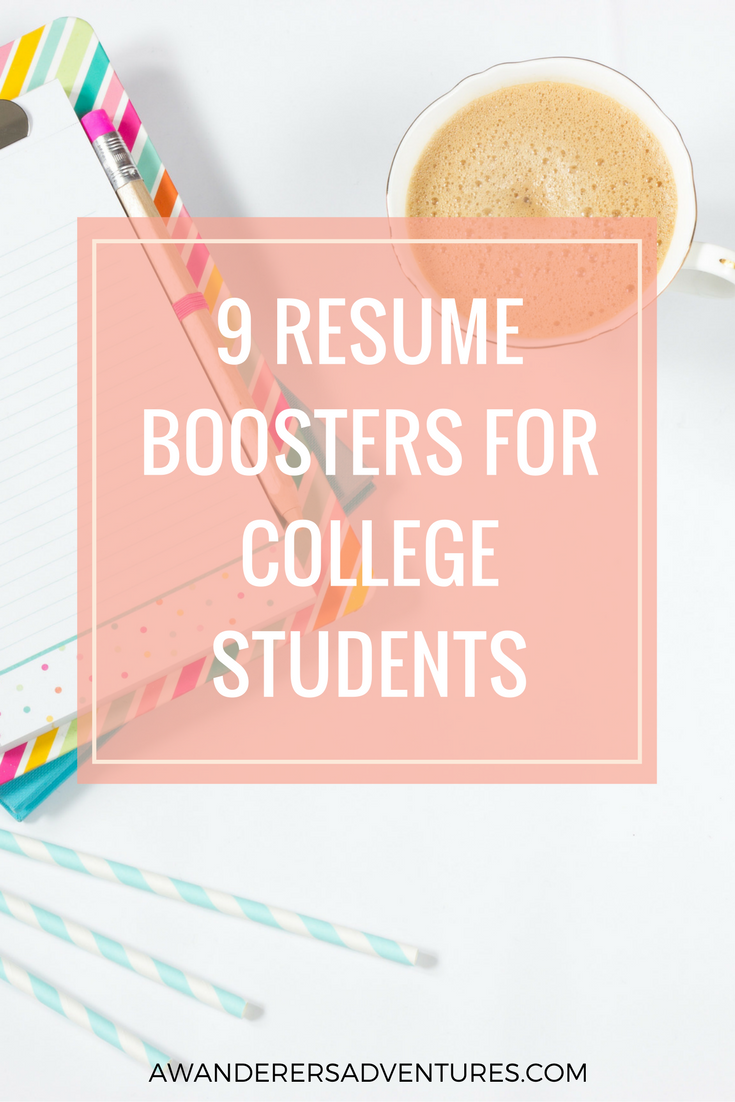 Resume Boosters For College Students  College Students And School