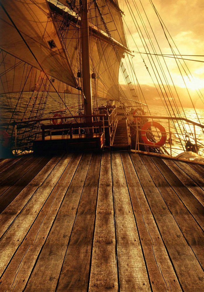 5x7ft Pirate Precious Treasure Photography Backdrop Photo Props Studio Background HXFU226
