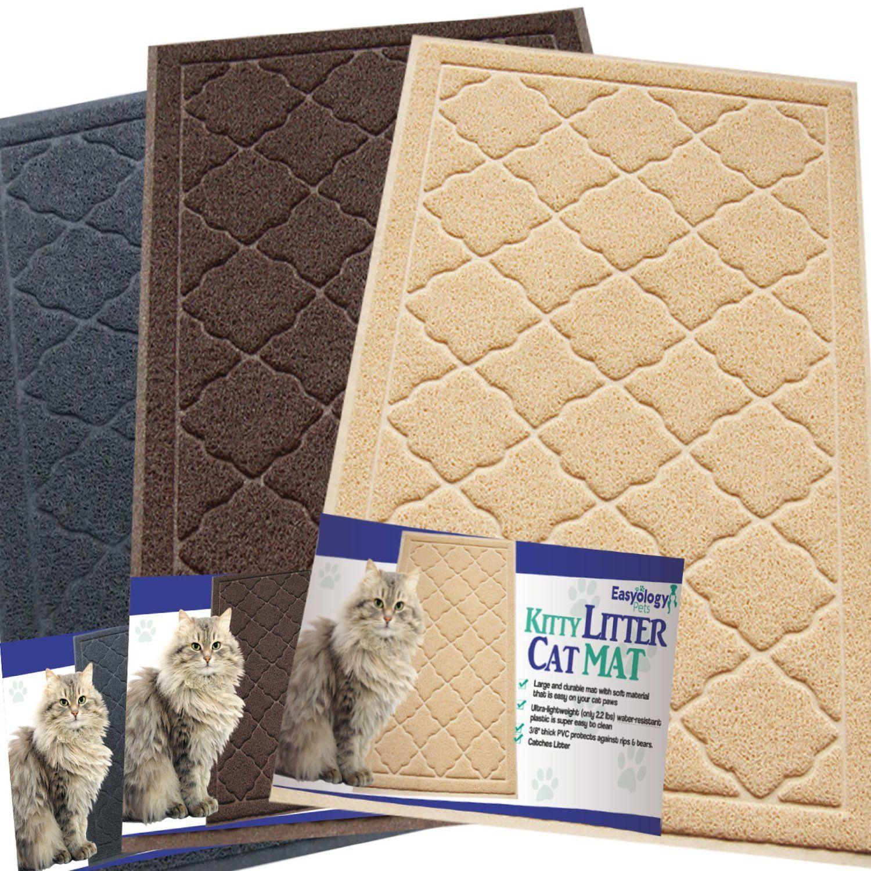 Named The Best Cat Litter Mat Amazon Com Easyology Premium Cat