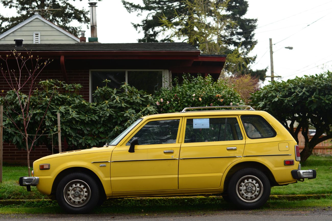 1976 Honda Civic CVCC Station Wagon.