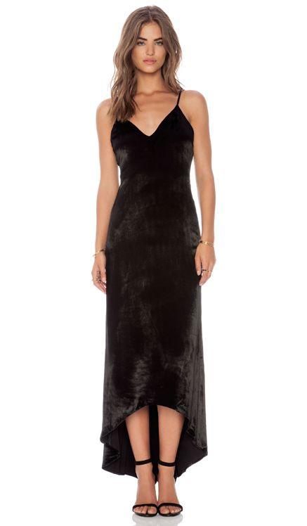 Alice + Olivia Velvet Maxi Dress in Black