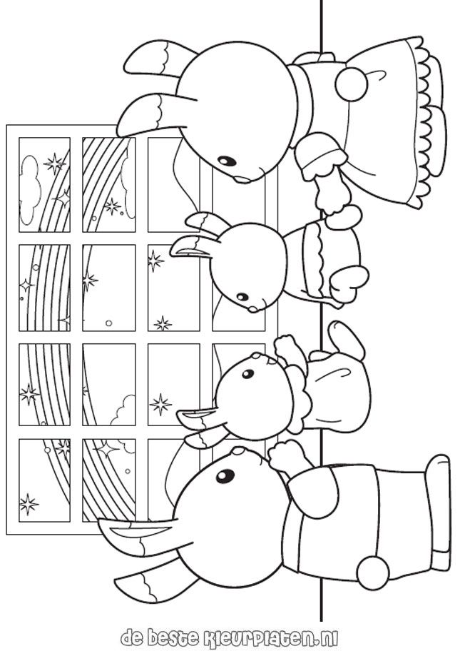 Sylvanian Families004 Printable Coloring Pages Family Coloring Pages Family Coloring Coloring Pages