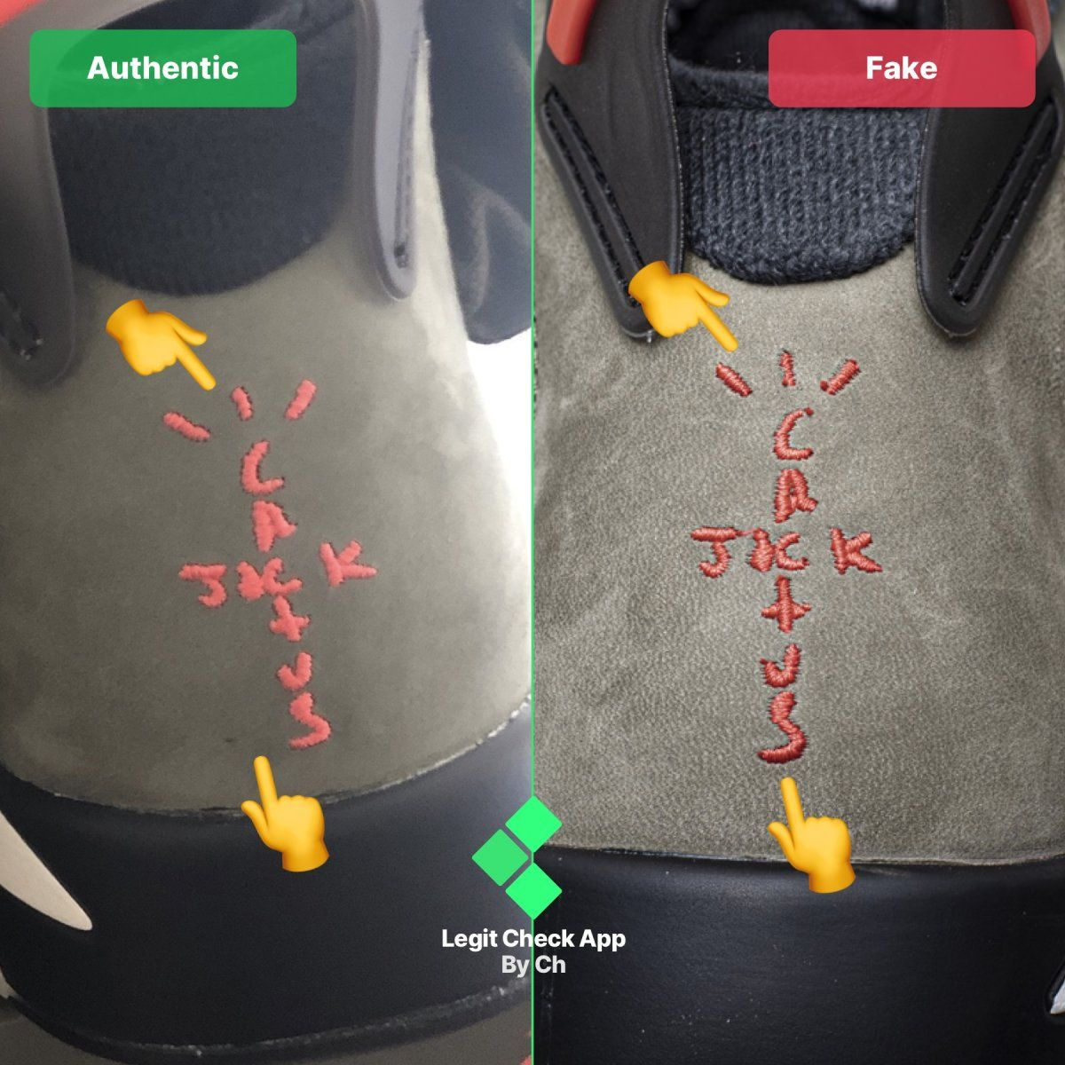 Step 1 Inspect the rear heel logos on your sneakers