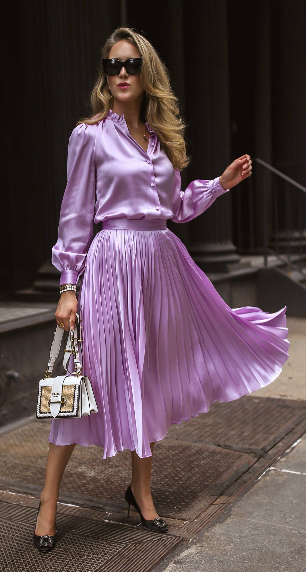 Career Memo The Best Professional Resources For Women By Women Lilac Silk Button Up Blouse With Puff Should Long Sleeve Casual Dress Satin Fashion Fashion [ 1868 x 1000 Pixel ]