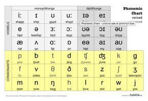 This Phonemic Chart Uses Symbols From The International Phonetic