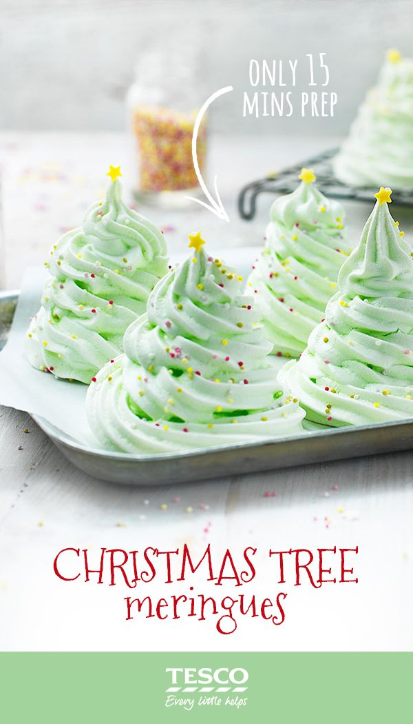 christmas tree meringues sprinkled with hundreds and thousands and topped with a star these wonderful christmas tree meringues will definitely g - Christmas Tree Meringues