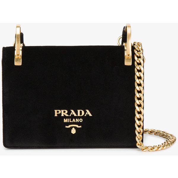 a3358c07f33 Prada Velvet Pattina Bag With Gold Chain (90,080 PHP) ❤ liked on Polyvore  featuring bags, handbags, purses, prada handbags, gold purse, gold evening  purse, ...