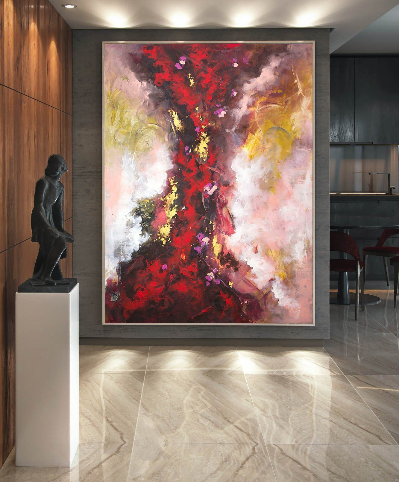 Contemporary Wall Art Abstract Painting On Canvas Original Etsy