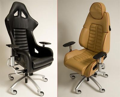 audi car: sportscar office chairs made from lamborghini, ferrari
