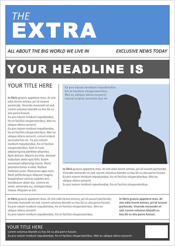 Free Download Newspaper Template Ms Word Templates Templates