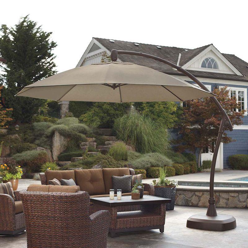 Sombrilla para patio de 3 35m con base proshade lo nuevo for Sombrillas de jardin