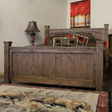 Autumn Comfort Rustic Barnwood Bed  Rustic Decor Rustic Bedroom Awesome Barn Wood Bedroom Furniture Review