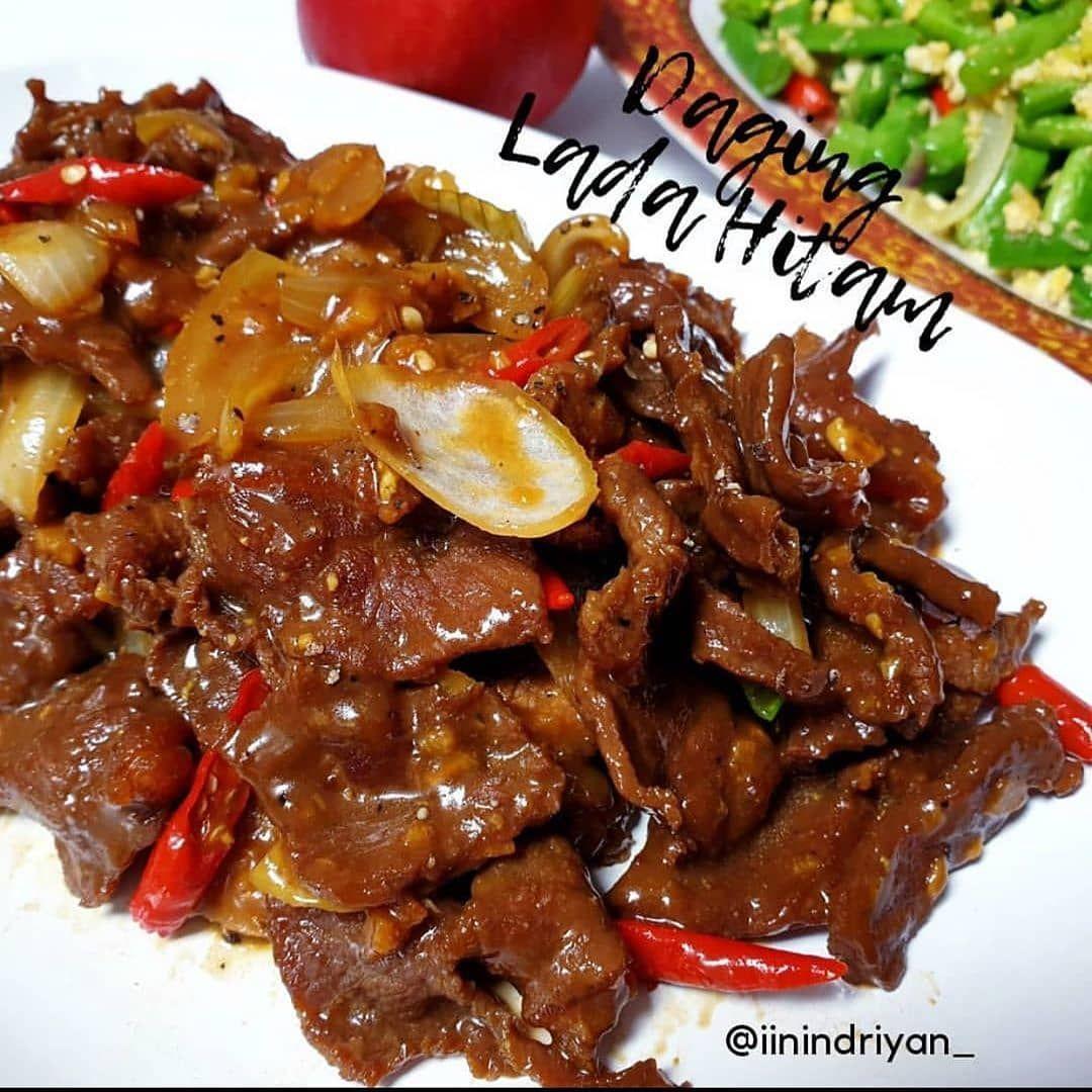 Daging Lada Hitam By Iinindriyan Inspired By Dhilasina Bahan Kg Daging Sapi Iris Tipis 3 Bawang Putih Iris Jahe Memarkan 1 Bawang
