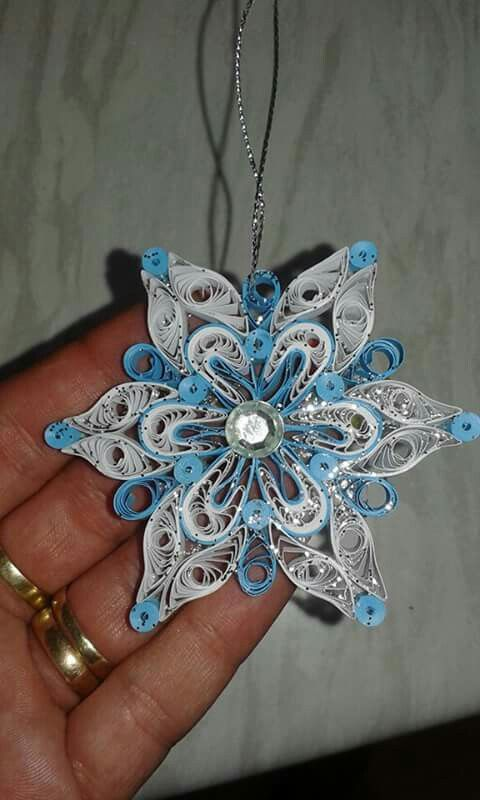 Blue star by quilling catalina no l flocons pinterest for Deco quilling
