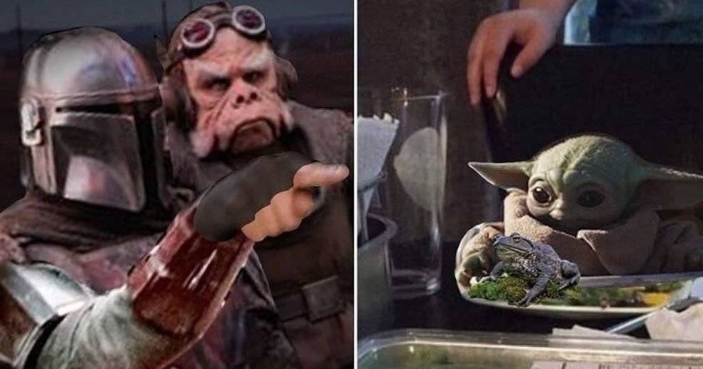 Lovable Baby Yoda In The Mandalorian Becomes A Meme Smieszne