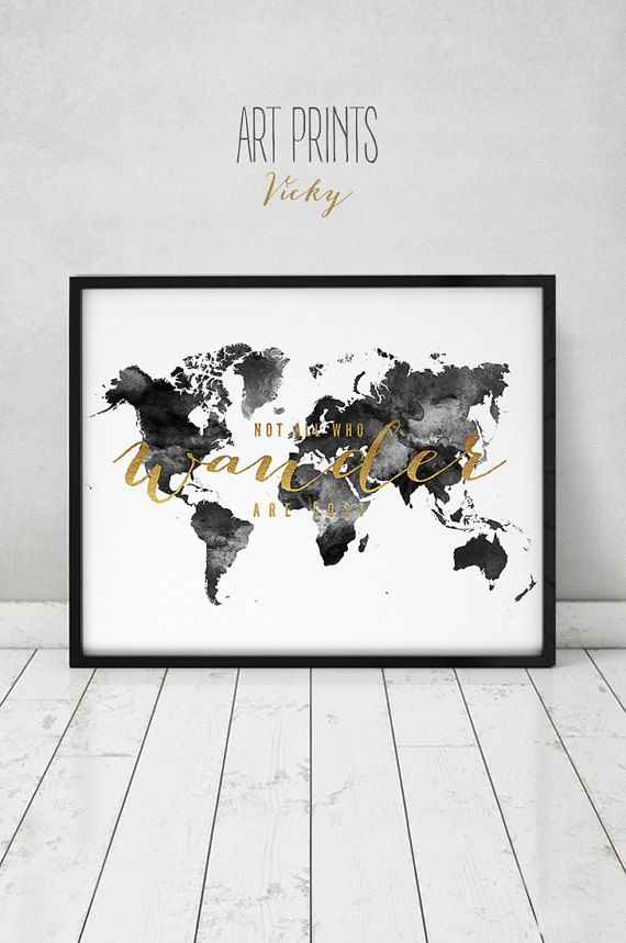 Black and white world map map art print large world map poster mapamundi poster de mapa mundial de impresin grandes gumiabroncs Image collections