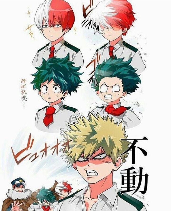 Bnha Hair Izuku Todoroki Katsuki Bakugou Iida My Hero Boku No Hero Academia Anime