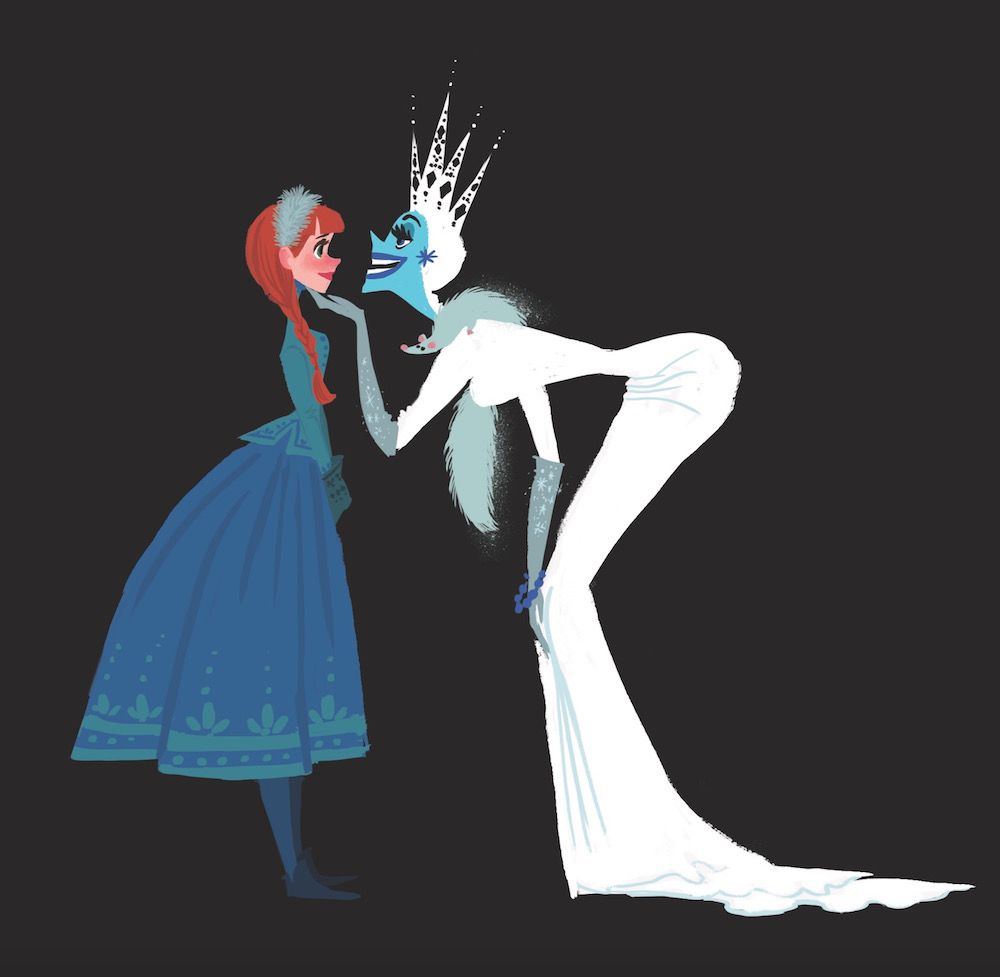 Anna And Elsa Frozen Concept Art