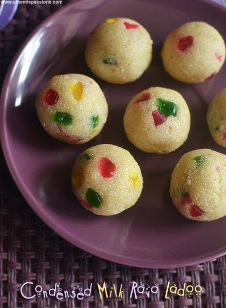 Condensed Milk Rava Ladoo Easy Diwali Sweets Sharmis Passions Diwali Sweets Recipe Sweet Meat Recipe Food