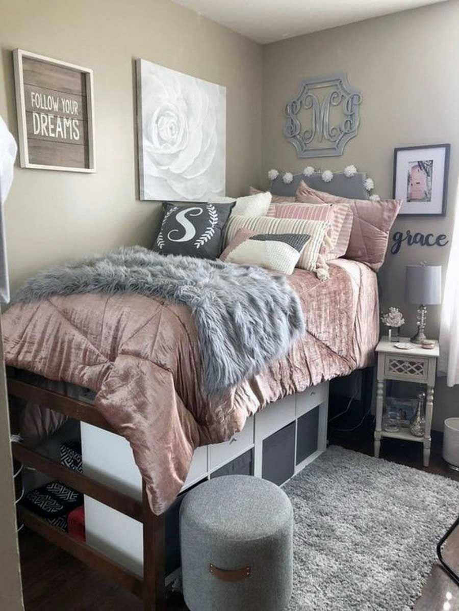 Small College Apartment Bedroom Ideas 09 Find More Ideas On My Latest Gallery Homedesign In 2020 College Dorm Room Decor College Bedroom Decor Dorm Room Designs