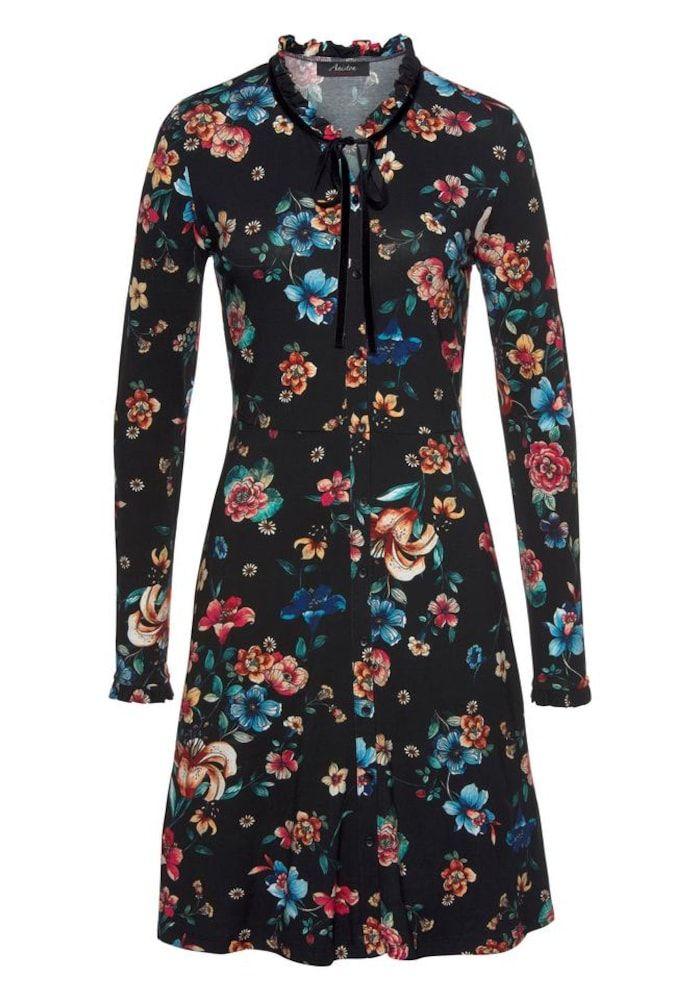 Aniston CASUAL Kleid Damen, Mischfarben / Schwarz, Größe 44