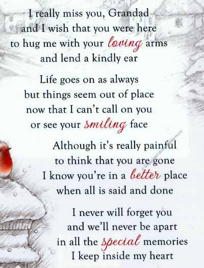 so thoughtful. | Funeral quotes, Funeral poems, Grandpa quotes