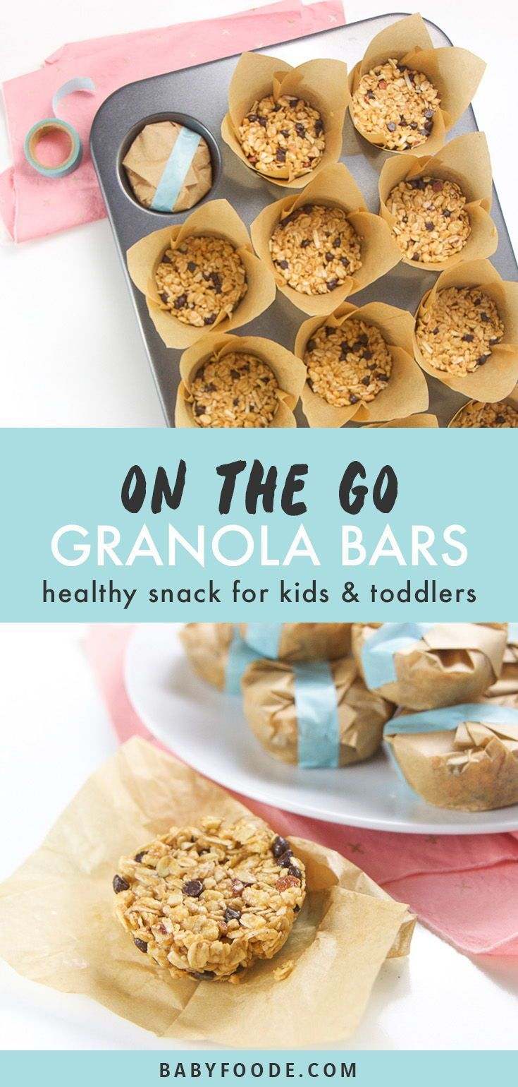 Healthy On-The-Go Granola Bars for Toddlers + Kids – Carey&CleanEatingS