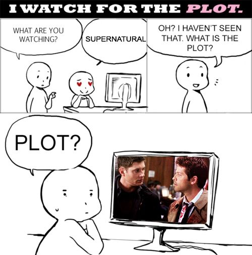 lol! I watch for both. ;] #Supernatural