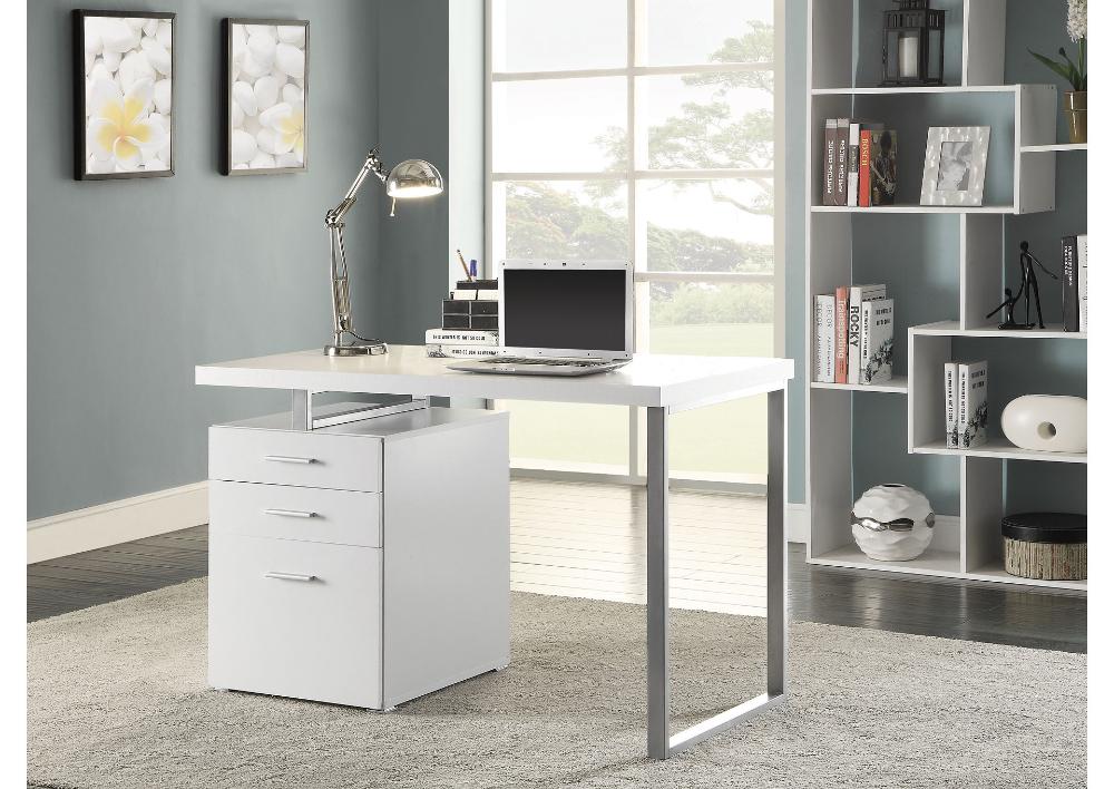 White Contemporary Writing Desk Oak Furniture Liquidators In 2020 Modern Home Office Desk White Desk Office Contemporary Office Desk