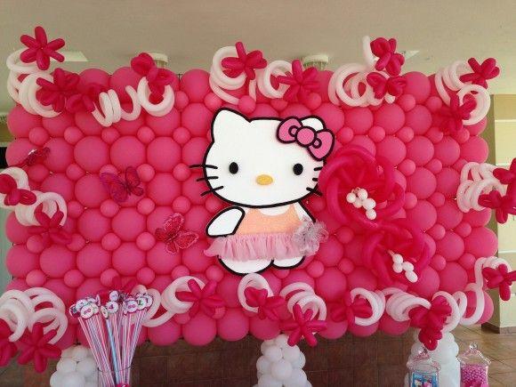 Hello Kitty Backdrop   CatchMyParty.com