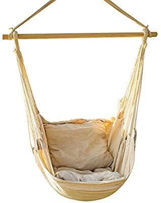 Amazon Com Everking Hanging Rope Hammock Chair Porch Swing Seat Large Hammock Net Chair Swing Cotton R Rope Hammock Chair Hammock Chair Metal Outdoor Chairs