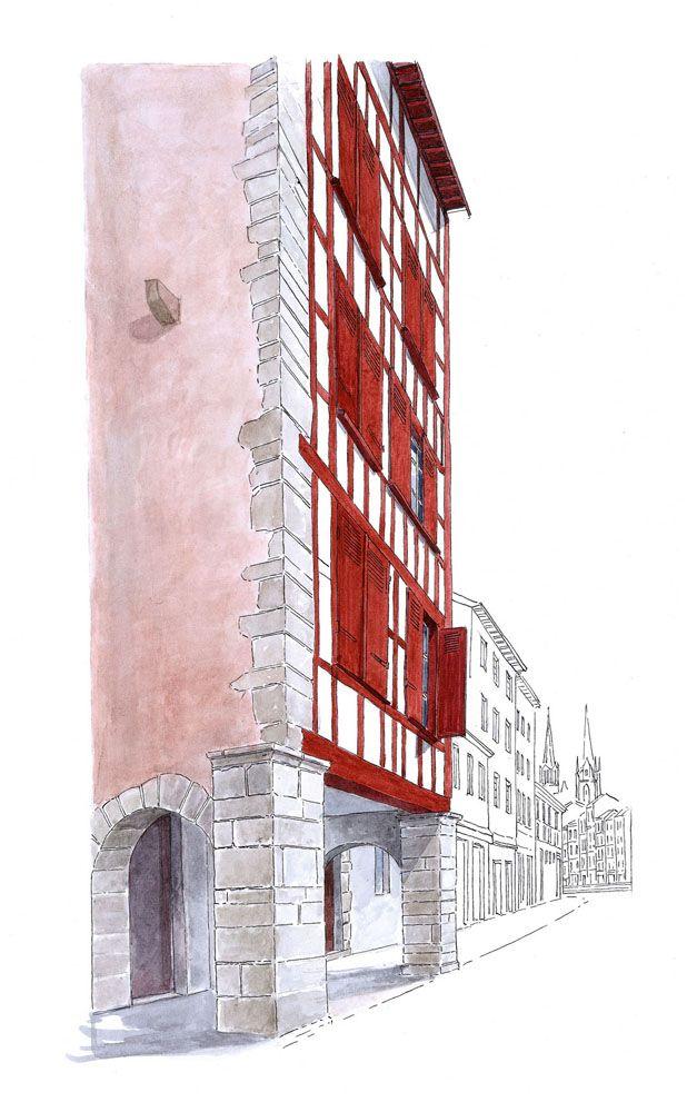 La Rue De Coursic Bayonne Pays Basque Bayonne Basque