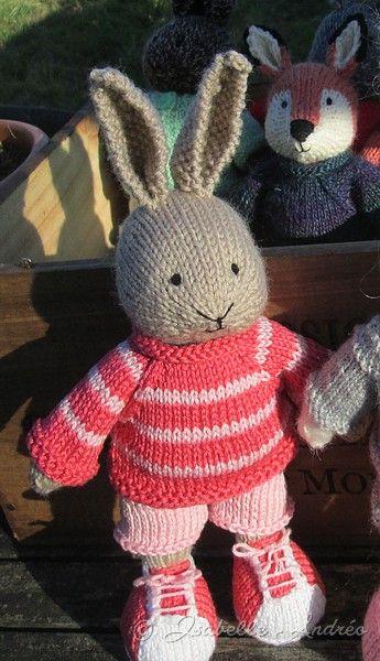 Amigurumi lapin tricot 1/3 / Miss Bunny amigurumi knit (english ... | 600x345