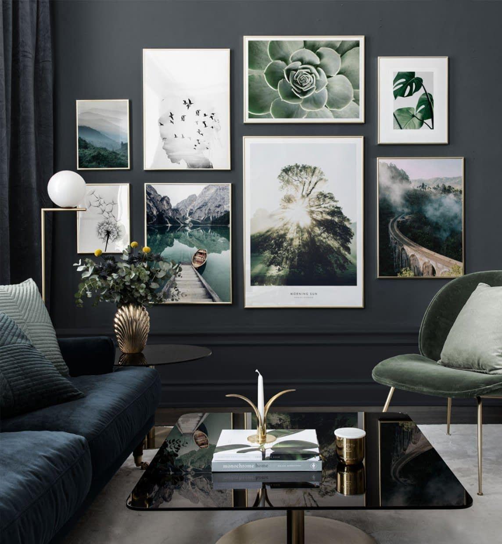 Bilderwand Mit Eleganten Motiven Die Von Der Natur Inspiriert Sind Posterstore De Woonkamer Decor Woonkamer Decoratie Wandontwerp