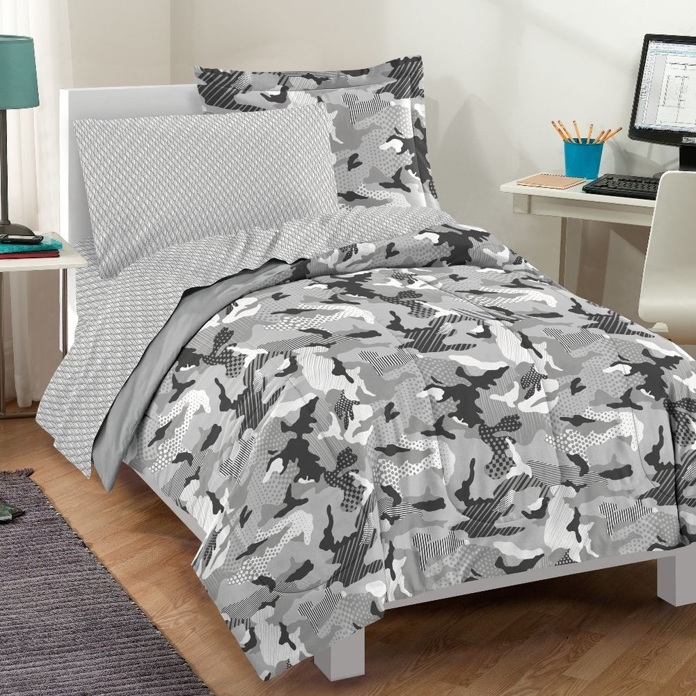 Details About New Camo Camouflage Army Green Boy Bedding Kid