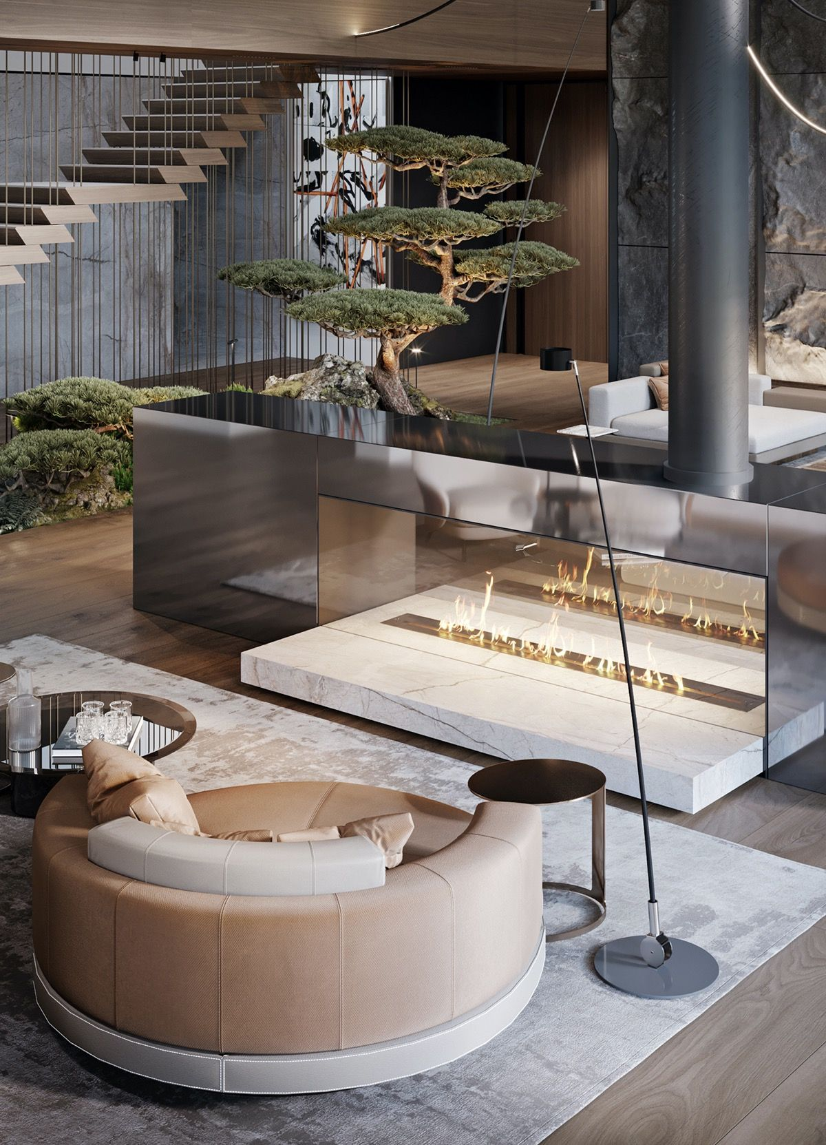 Modern Luxury Country House With Skylights & A Majestic Bonsai Garden