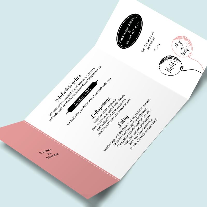 Geburtstagskarten: Luftsprung Einladungskarten Zum Geburtstag Gestalten Und Drucken  Lassen