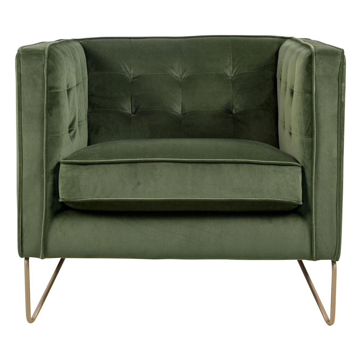 Interlochen Chair In Modern Green Velvet