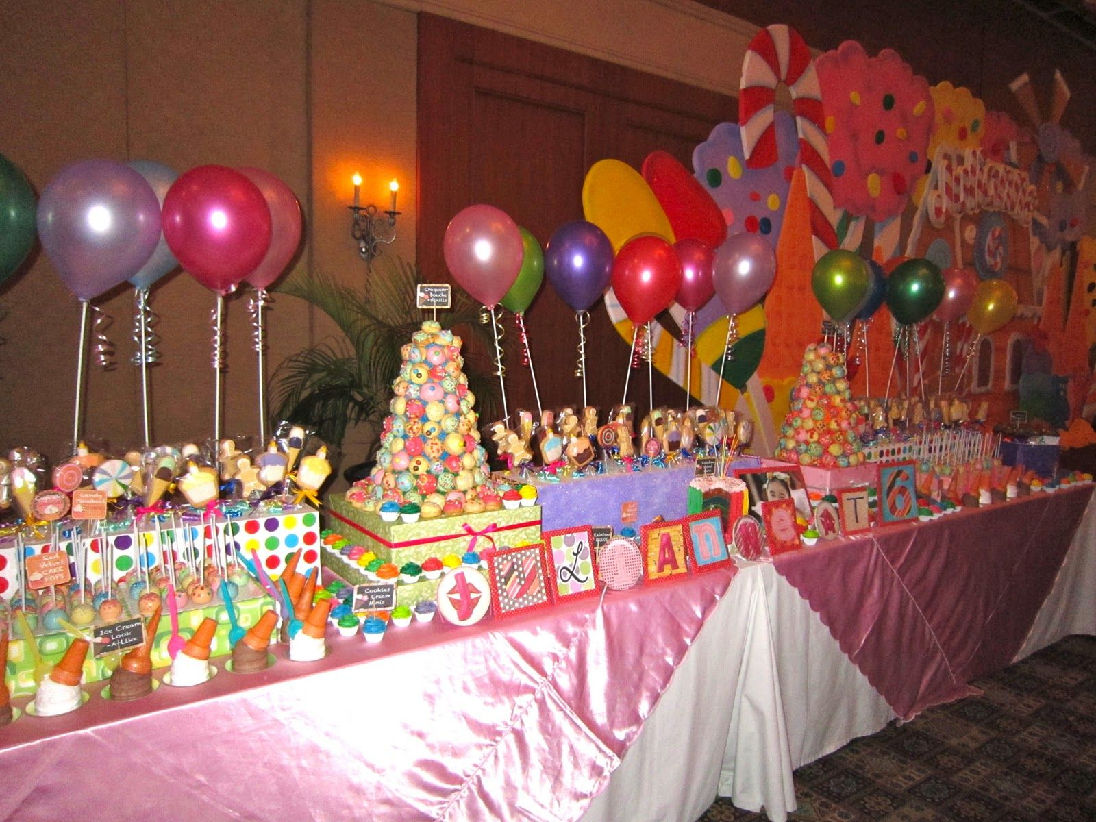 Candyland Theme Cakes | Candyland Themed Dessert Buffet, LMG Pastry ...
