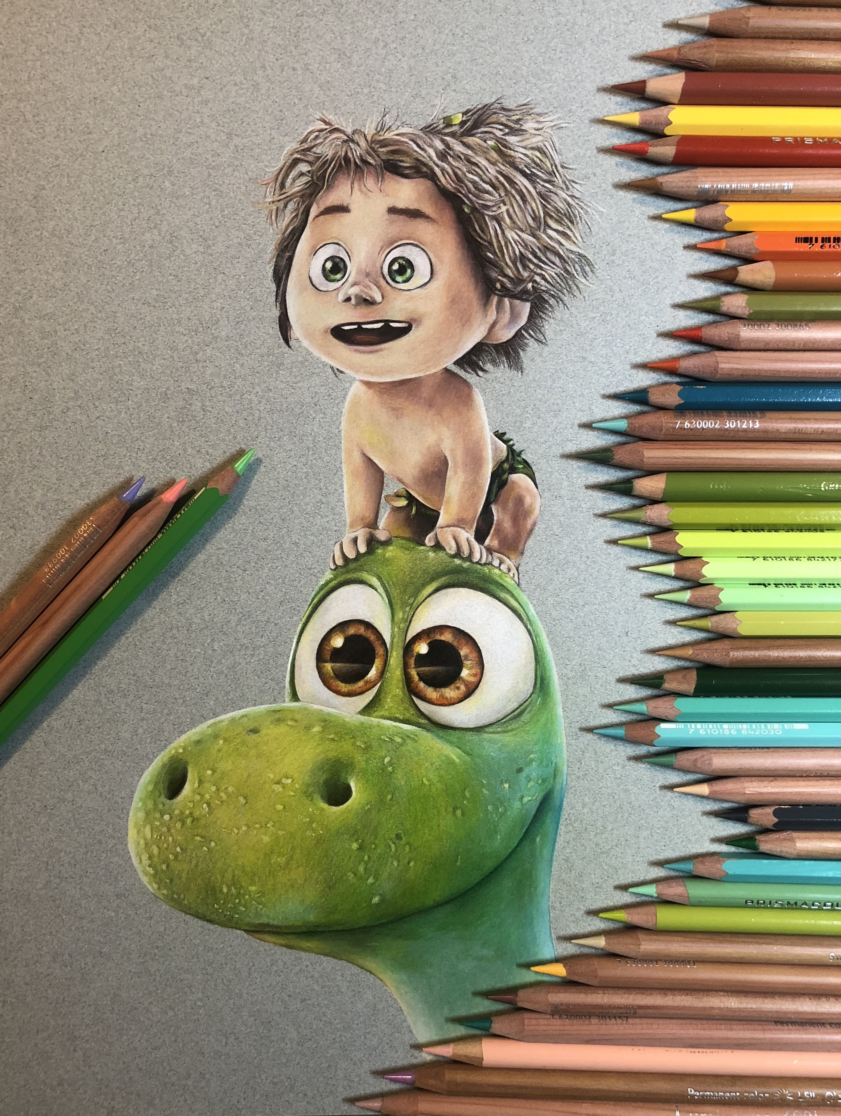 Colored pencil drawing by me. (No filter) #gooddinosaur ...