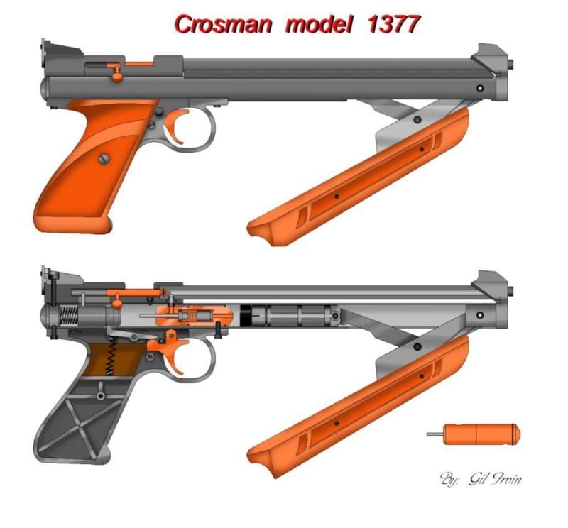 Crosman Airgun Forum  New   Cross Section Diagram Of 2240