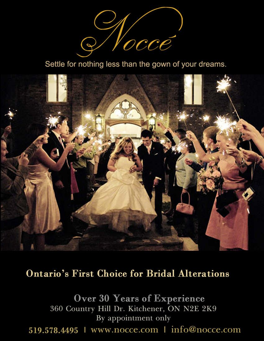 Best Wedding Dress Alterations In London Ontario Area Nocce Bridal