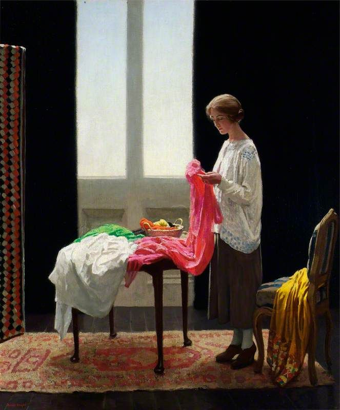 Harold Knight - The Embroideress 1921