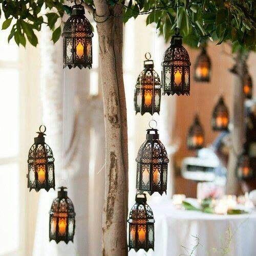 Romantic morocan lanterns