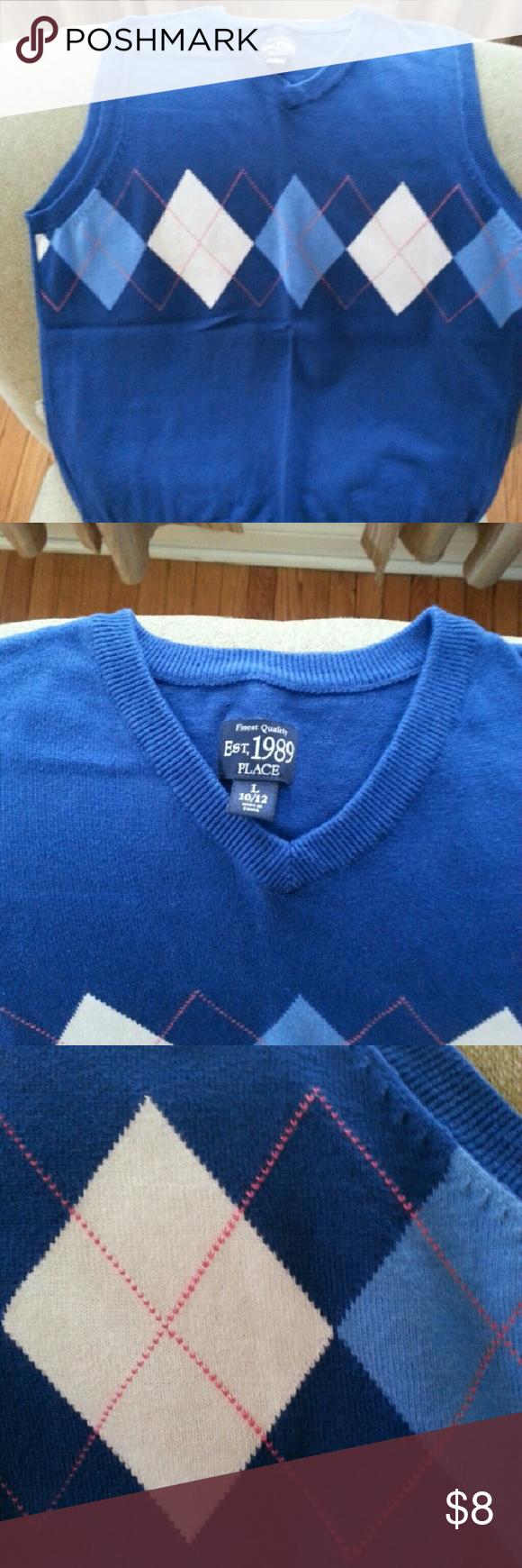 CHILDREN'S PLACE SWEATER VEST Big boys vest Children's Place Shirts & Tops Sweaters