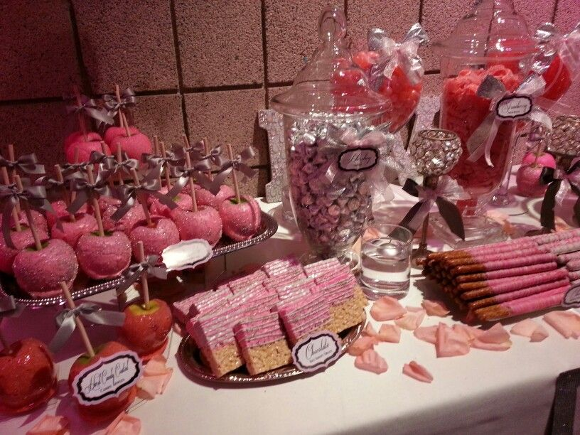 Custom made Candy Apples and mini Desserts for Seven Degrees in