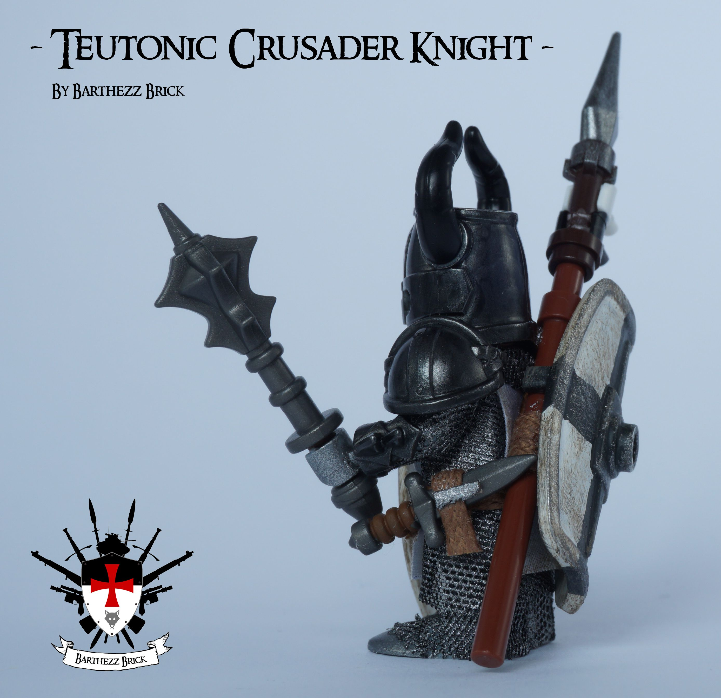 Lego Custom White Crusader Knight