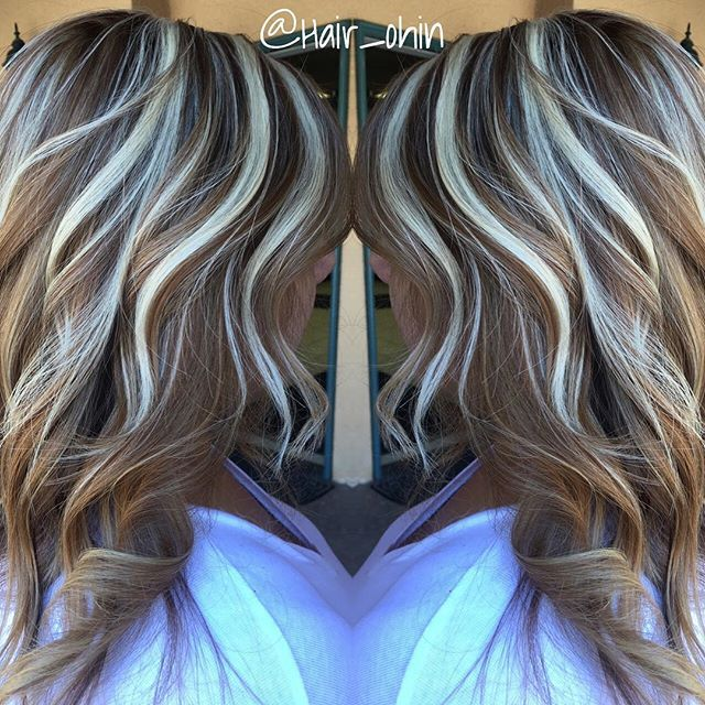 Light Brown Base Wplatinum Thick Crown Highlights Hair Colors In