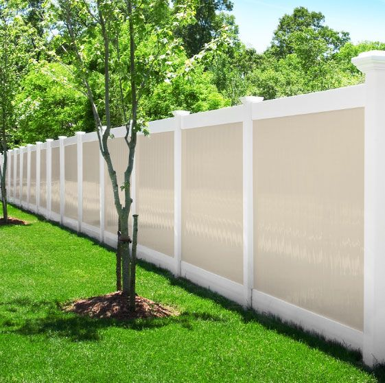 Photo Gallery Illusions Vinyl Fence Vinyl Fence Fence Design Modern Fence Design