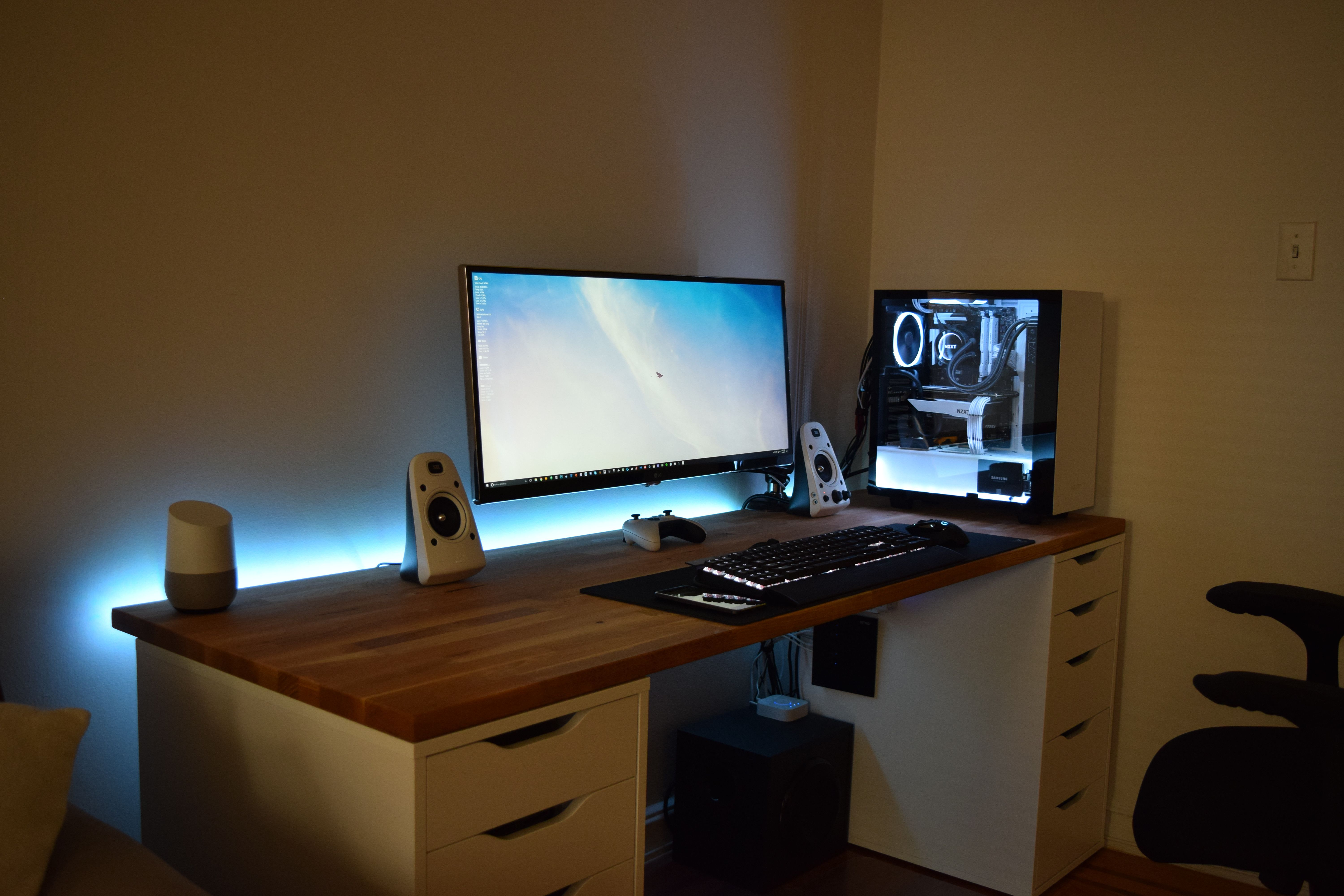 Updated My Black White Setup Battlestation Pinterest